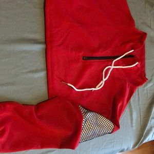 Zaful edgy red midcut sweater.